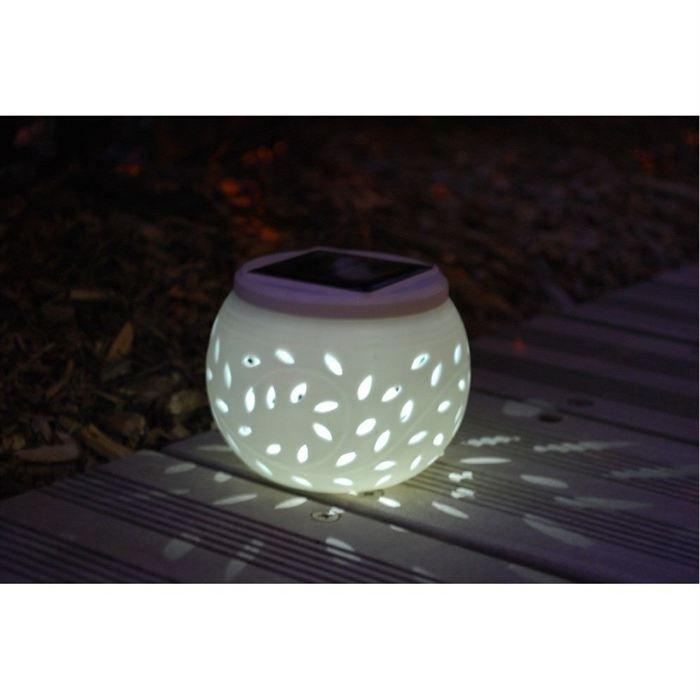 lanterne nergie solaire en c ramique pour d co achat. Black Bedroom Furniture Sets. Home Design Ideas