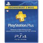 ABONNEMENT JEUX Abonnement Playstation Plus 3 Mois PS Vita-PS3-PS4