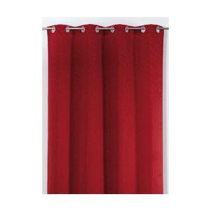 RIDEAU Rideau en Jacquard Design Rouge 140 x 240 cm