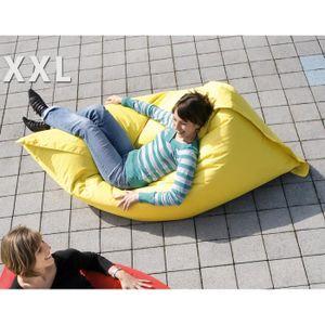 pouf jaune achat vente pouf jaune pas cher cdiscount. Black Bedroom Furniture Sets. Home Design Ideas