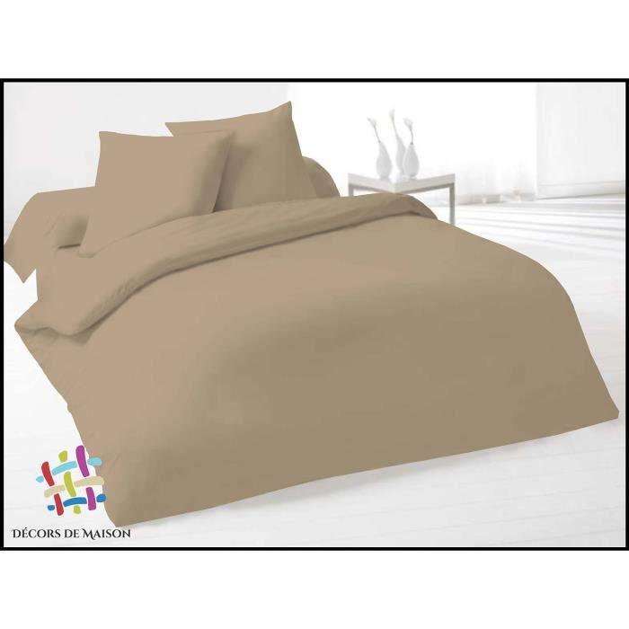 housse de couette couleur taupe achat vente housse de couette couleur taupe pas cher cdiscount. Black Bedroom Furniture Sets. Home Design Ideas