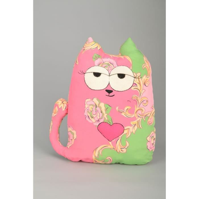 coussin decoratif pour canape chat rose fait main achat vente objet d coratif les soldes. Black Bedroom Furniture Sets. Home Design Ideas