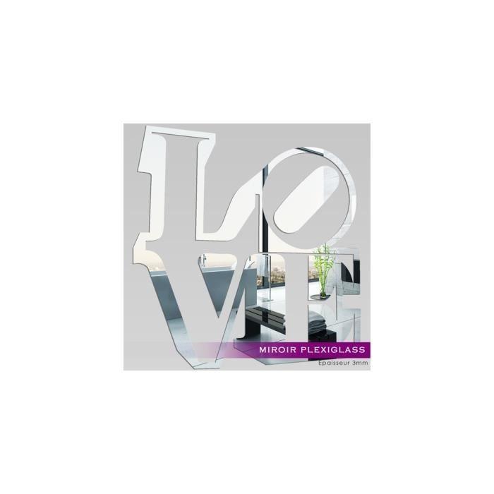 Miroir plexiglass acrylique love ref mir 179 achat for Miroir qui s ouvre