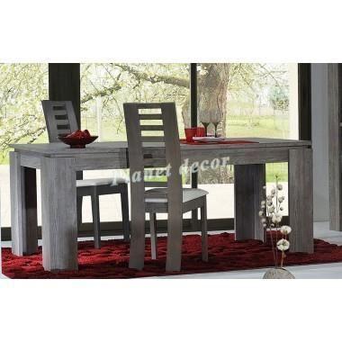 Table de salle manger fjord rallonges achat vente table a manger seule - Cdiscount meuble salle a manger ...