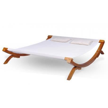 transat double beige bain de soleil achat vente chaise. Black Bedroom Furniture Sets. Home Design Ideas
