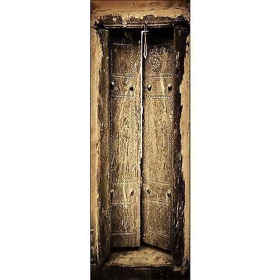 Papier peint pour porte trompe l oeil d co vielle porte - Papier peint pour porte interieure ...