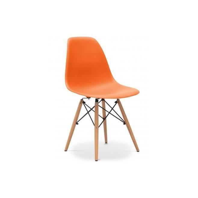 Chaise design dsw orange achat vente chaise for Chaise dsw abs