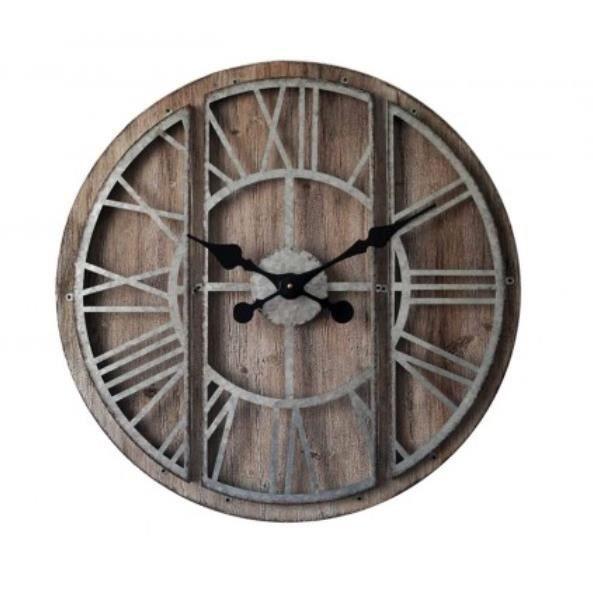 horloge bois et metal achat vente horloge bois et metal pas cher les soldes sur cdiscount