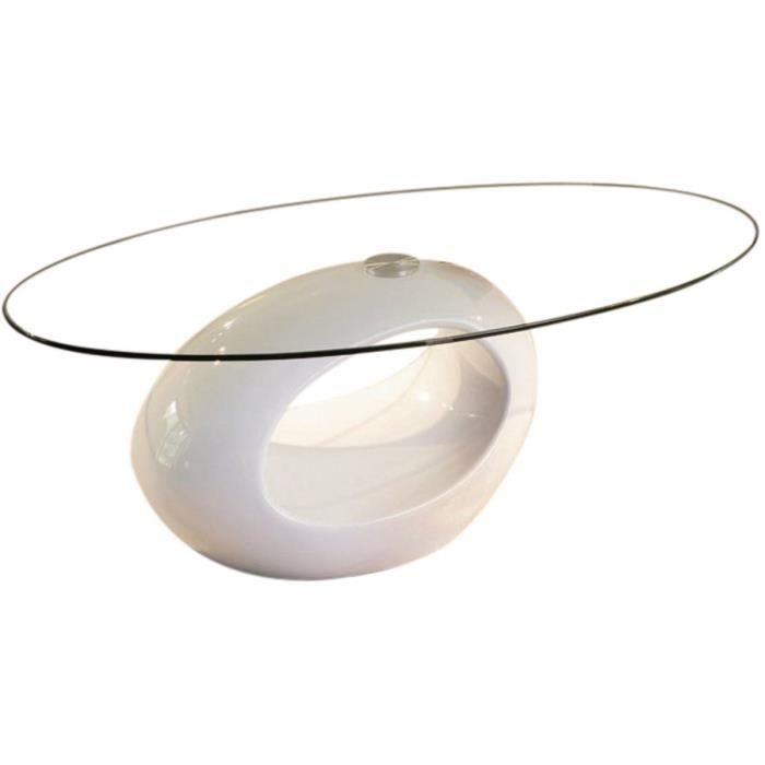 Table basse ovale jeny en mdf laqu blanc achat - Table basse ovale blanc laque ...
