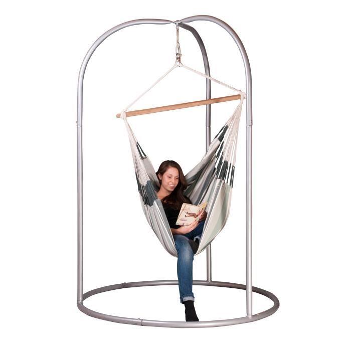 set de support chaise hamac large compos de c achat vente hamac chaise hamac large avec. Black Bedroom Furniture Sets. Home Design Ideas