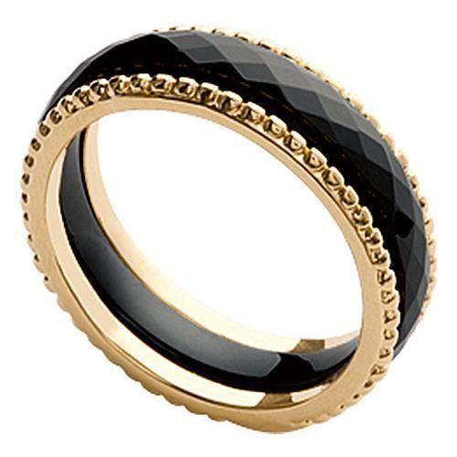 bague plaqu or c ramique orleo noir achat vente bague anneau bague plaqu or. Black Bedroom Furniture Sets. Home Design Ideas