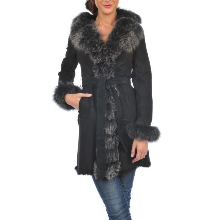 manteau cuir femme arturo sarah noir couleur noir noir. Black Bedroom Furniture Sets. Home Design Ideas