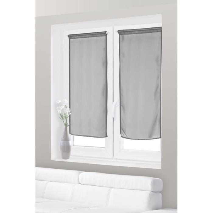 paire de voilage vitrage uni 60x120 cm tissu le achat vente rideau voilage cdiscount. Black Bedroom Furniture Sets. Home Design Ideas