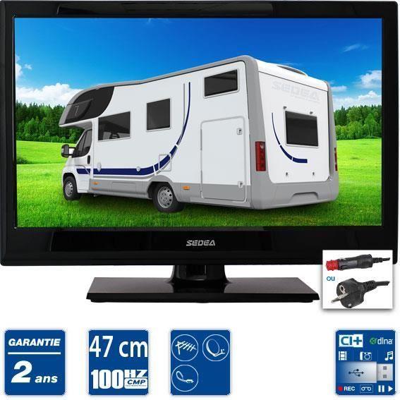 sedea tv led hd camping car 47cm tv led televiseurs televiseurspaschers. Black Bedroom Furniture Sets. Home Design Ideas