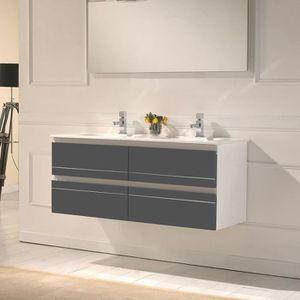 Meubles de salle de bains double vasque achat vente for Meuble de salle de bain double vasque 120 cm