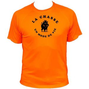 MAILLOT DE CHASSE Tee-shirt chasse sanglier noir