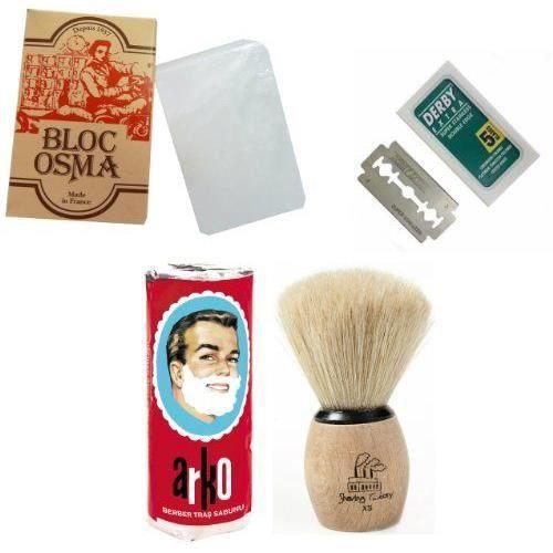 shaving factory kit de rasage 1 bloc de pierr achat vente savon syndets shaving factory. Black Bedroom Furniture Sets. Home Design Ideas