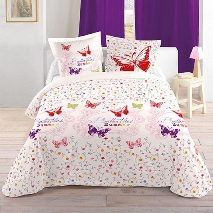 parure 4 pi ces drap housse drap plat 2 t achat. Black Bedroom Furniture Sets. Home Design Ideas