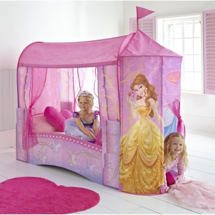 Disney princesses lit enfant ch teau 70 x 140 cm achat - Bureau enfant princesse ...