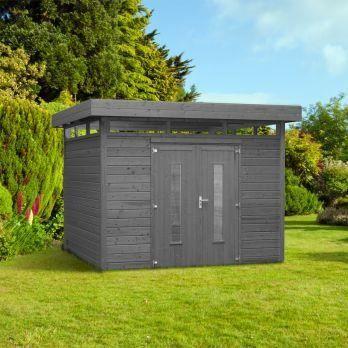 abri de jardin 28 mm grande hauteur 305x 305 c achat vente abri jardin chalet abri de. Black Bedroom Furniture Sets. Home Design Ideas