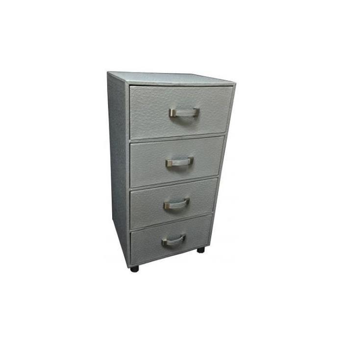 Colonne de rangement 4 tiroirs gris b ton achat vente petit meuble rangement colonne de - Petite colonne de rangement ...