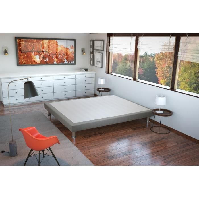 sommier erable 160x200 cm gris clair achat vente sommier cdiscount. Black Bedroom Furniture Sets. Home Design Ideas