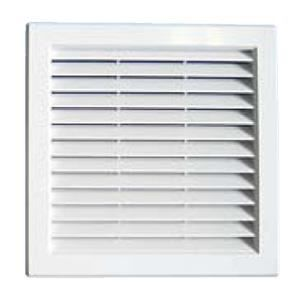 Grille ventilation pvc traditionnelle encastrer 217x217mm moustiquaire - Grille de ventilation hygroreglable ...