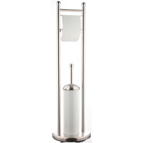 brosse wc avec d rouleur blanc achat vente brosse wc. Black Bedroom Furniture Sets. Home Design Ideas