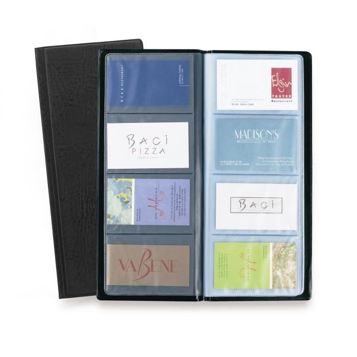 porte carte de visite 64 pochettes noir achat vente classeur presentation porte carte de. Black Bedroom Furniture Sets. Home Design Ideas