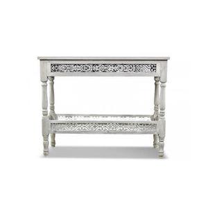 console en bois gris achat vente console en bois gris pas cher les soldes sur cdiscount. Black Bedroom Furniture Sets. Home Design Ideas