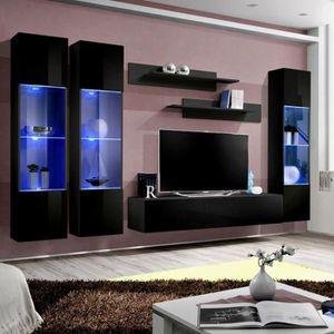 Meuble tv led achat vente meuble tv led pas cher for Meuble mural tv fly