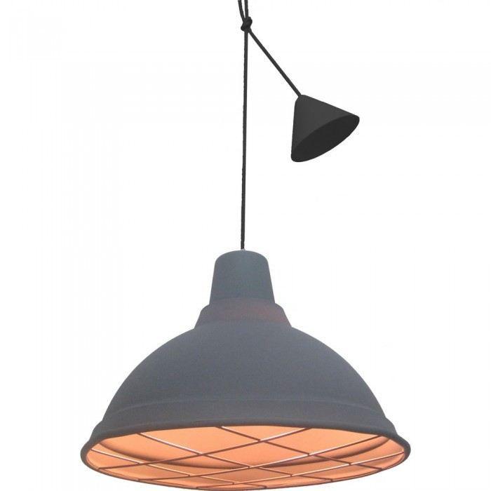 lampe suspension design lutor couleur gris mati achat. Black Bedroom Furniture Sets. Home Design Ideas