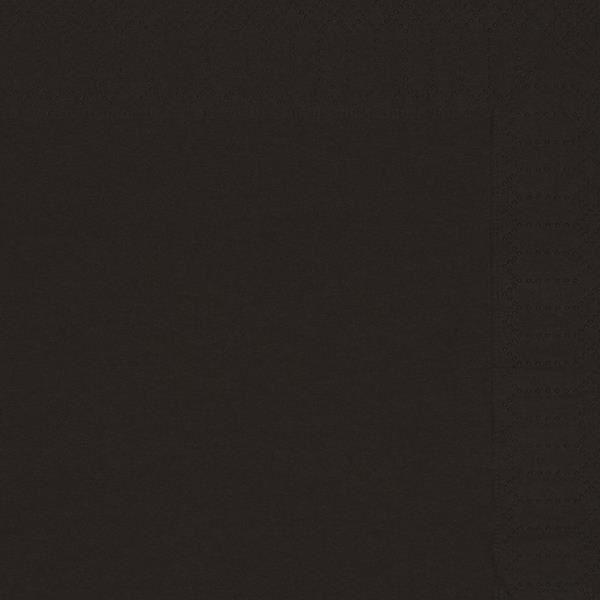 Serviette papier ouate noir 38x38cm par 100 achat for Serviette de table noir