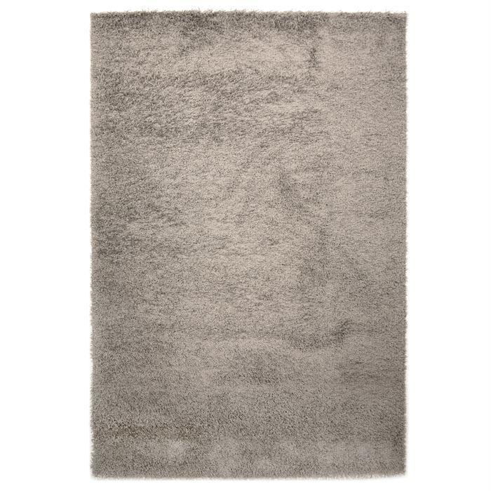 tapis shaggy longue m che gris 135x190cm achat vente tapis cdiscount. Black Bedroom Furniture Sets. Home Design Ideas