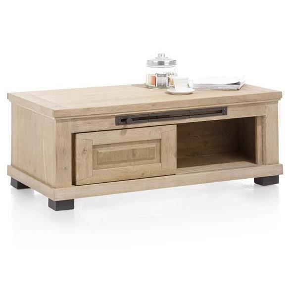 Table basse120 x 60 cm ch ne massif atelier h h achat for Table basse 60 cm