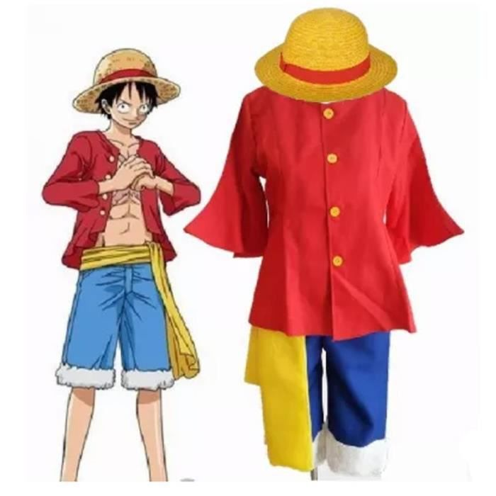 Anime one piece monkey d luffy 2 ans plus tard cosplay coat costume hat ceinture achat - Image one piece 2 ans plus tard ...