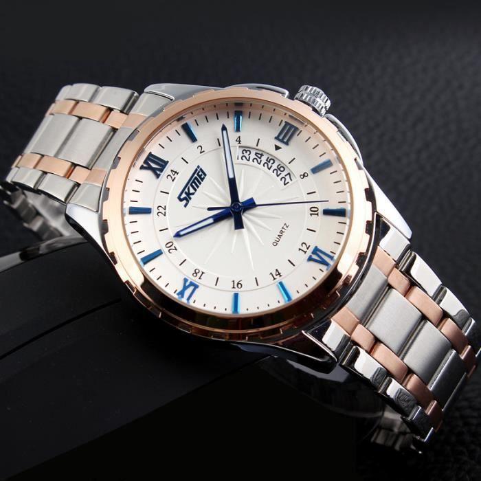 sharphy montre homme de marque haut de luxe acier tanche bleu achat vente montre sharphy. Black Bedroom Furniture Sets. Home Design Ideas