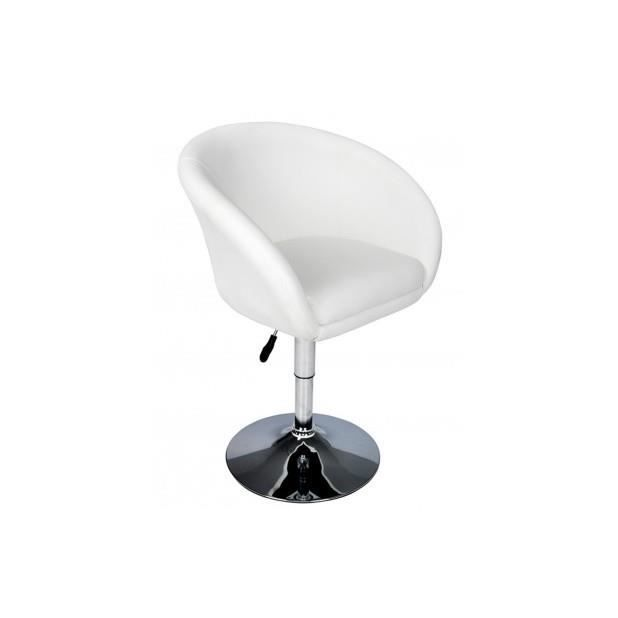Superbe fauteuil rond pivotant odyssey achat vente fauteuil blanc cdisc - Fauteuil rond pivotant ...