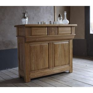 Bar de comptoir ch ne massif 39 am lie 39 achat vente for Comptoir du meuble bruxelles