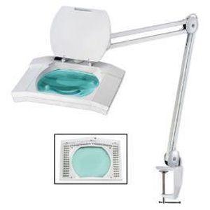LAMPE A POSER Lampe-loupe LED étau lentille 175 x 135 mm 5 di...
