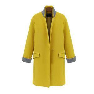 manteau femme jaune achat vente manteau femme jaune pas cher. Black Bedroom Furniture Sets. Home Design Ideas