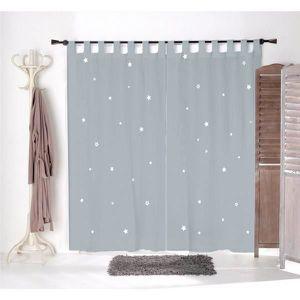 voilage gris achat vente voilage gris pas cher. Black Bedroom Furniture Sets. Home Design Ideas