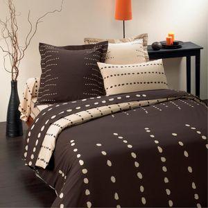 housses de couette marron 220x240 achat vente housses de couette marron 220x240 pas cher. Black Bedroom Furniture Sets. Home Design Ideas