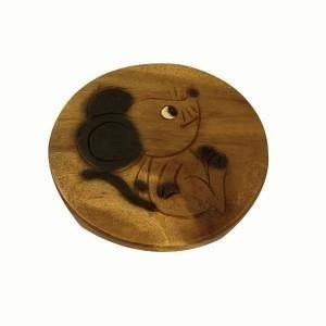 Sun d'koh - Tabouret en bois souris 25 cm
