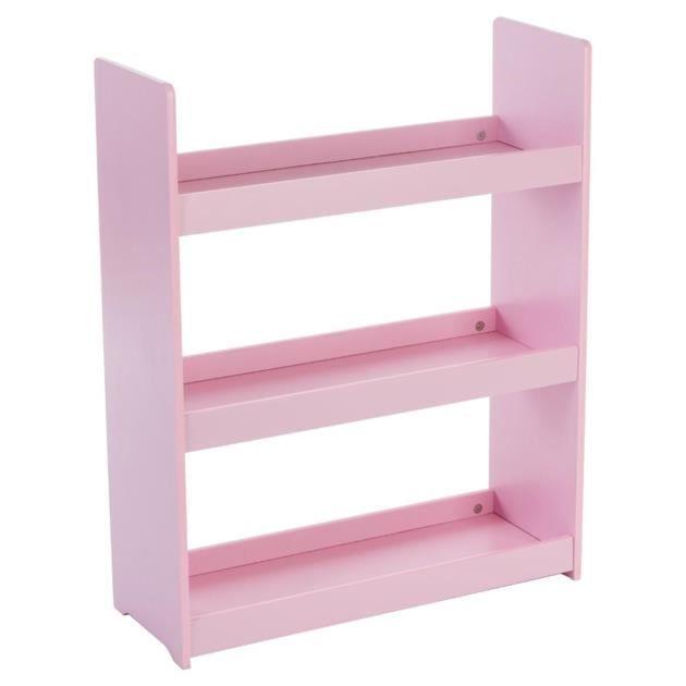 etag re 3 niveaux en bois pour enfant rose achat. Black Bedroom Furniture Sets. Home Design Ideas