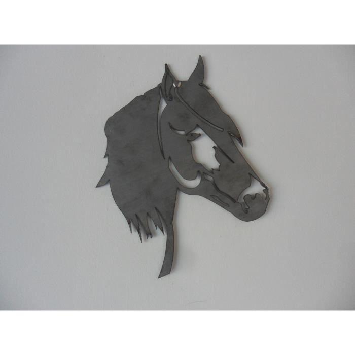T te de cheval acier achat vente accessoire de portail t te de cheval acier cdiscount - Tete de cheval dessin ...