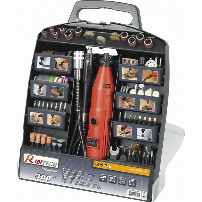 Kit meuleuse type dremel 300 pi ces achat vente outil multifonctions cdiscount - Mini outil multifonction ...