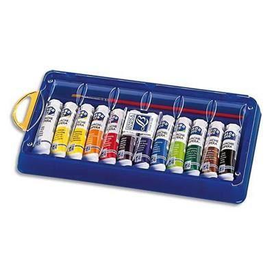 Colart boite plumier 12 tubes de gouache et achat vente kit peinture - Boite de peinture acrylique ...
