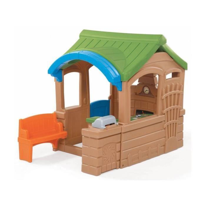 Cabane en r sine gather et grill playhouse achat vente - Cabane de jardin en resine ...