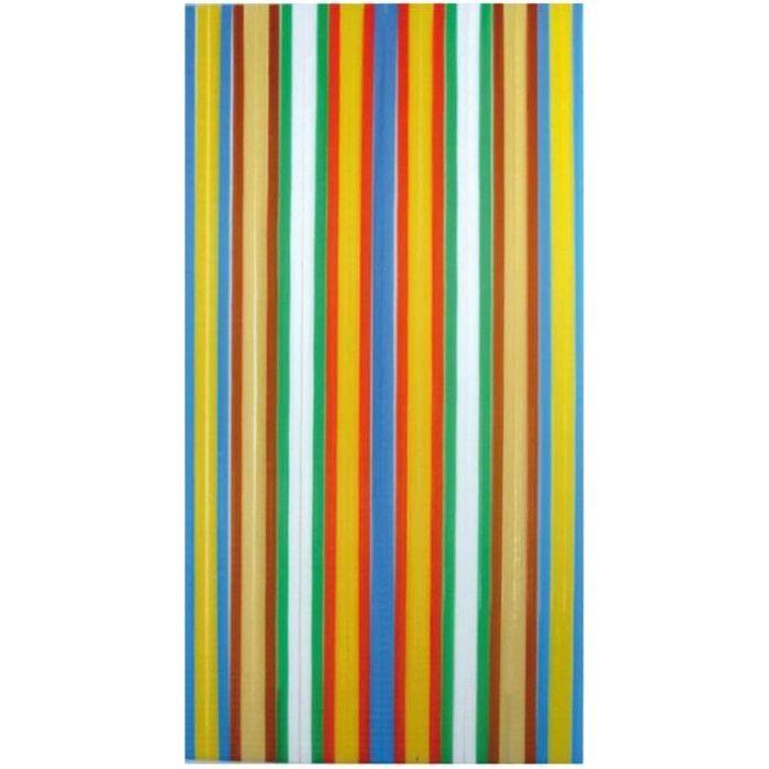 rideau de porte lani re antilles morel 120x220c achat vente rideau de porte poly thyl ne. Black Bedroom Furniture Sets. Home Design Ideas